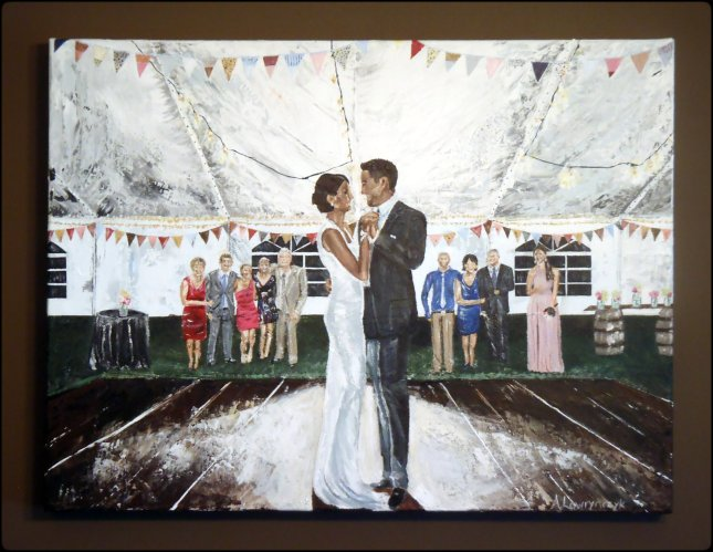 "18x24"" Acrylic on Canvas - Scott and Heather's first Dance"