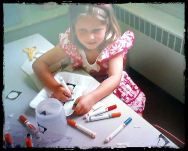 That's me in the Arts and Crafts corner doing my thing in Grade 1
