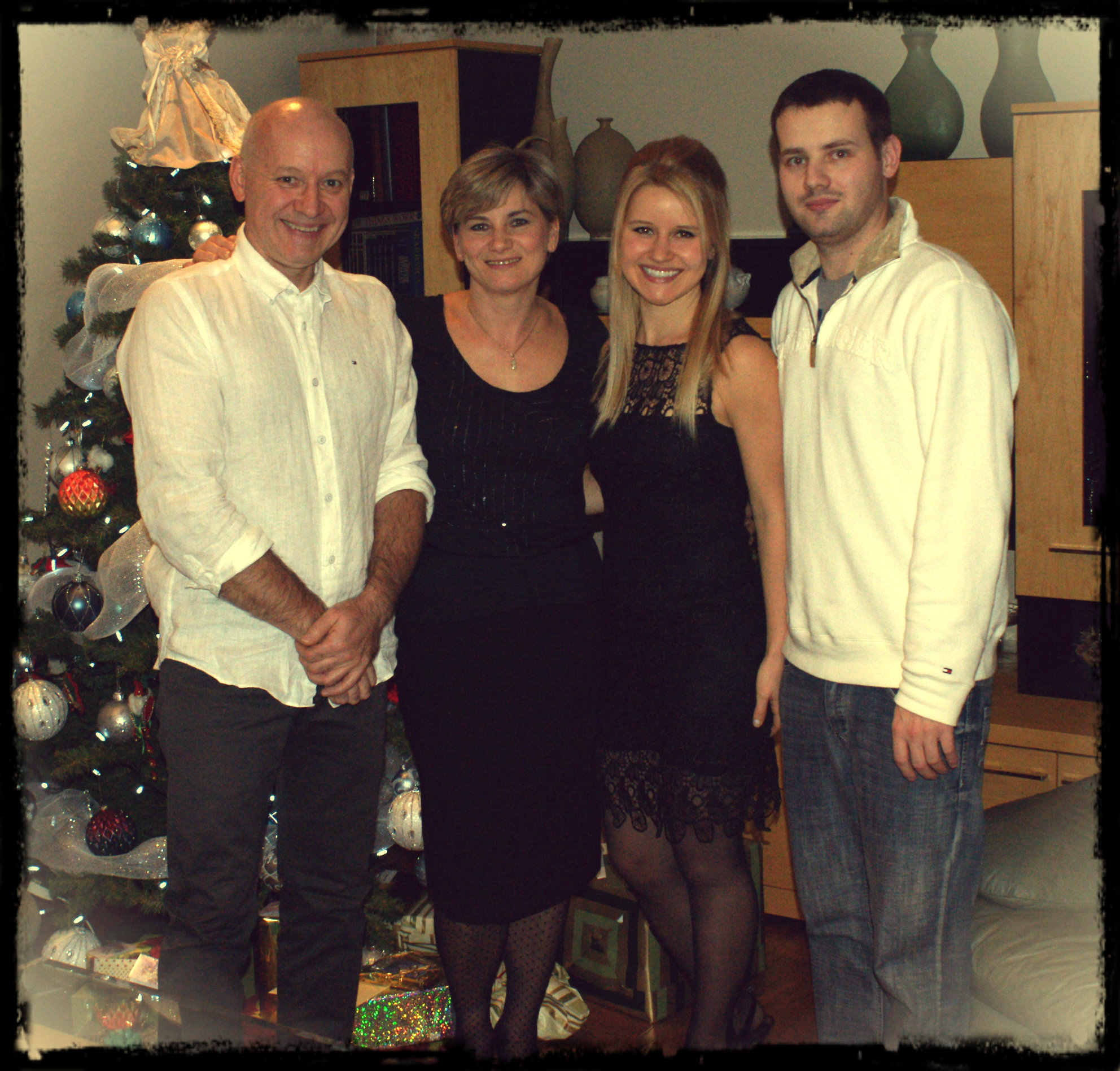 As excited as I am to be back in Ottawa, I miss these people. - Family on Christmas Eve 2012