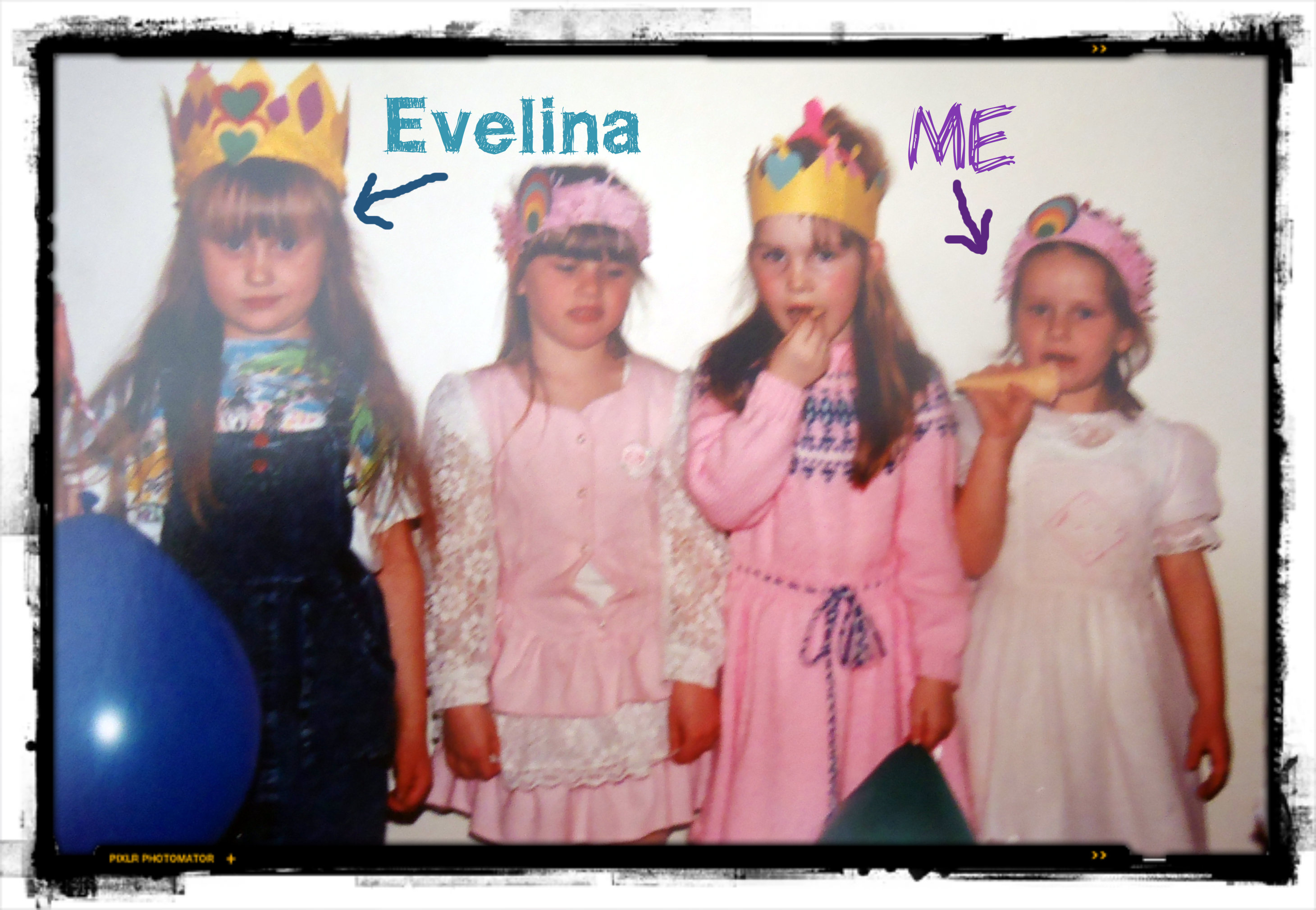 My 5th Birthday Party. Those crowns that we're all wearing...we made those at the party lol