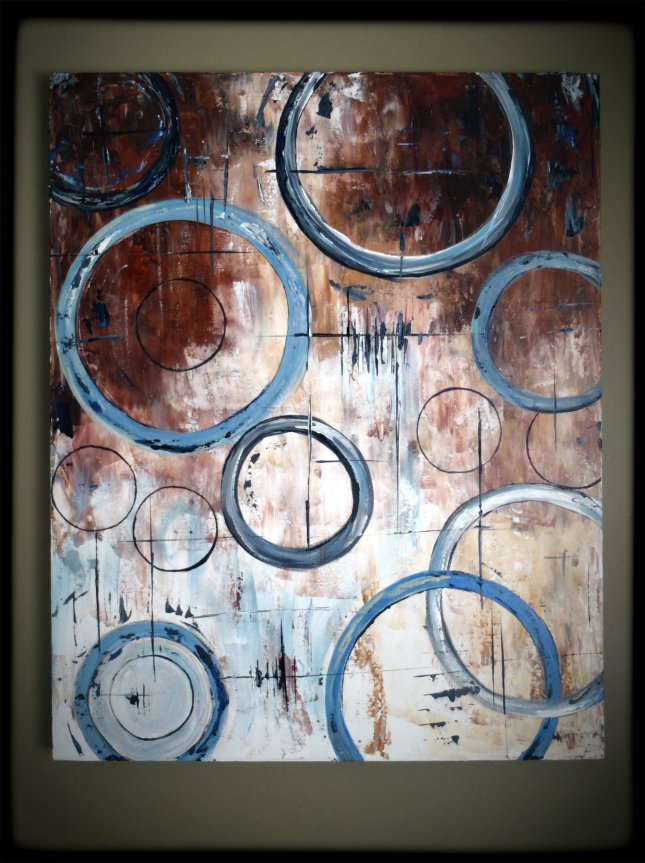"24x36"" - Abstract Circles"